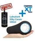 Sqweel XT - stymulator seksu oralnego dla mężczyzn + Lubrykant  Silky Caress 100ml GRATIS!
