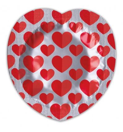 Pasante Heart Shaped Foil Condoms (144 szt.)