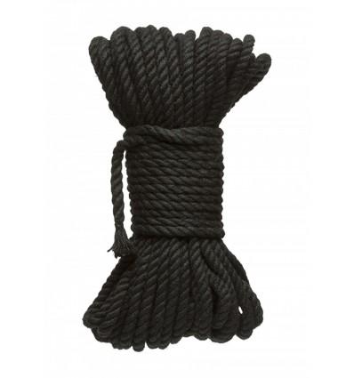 Kink Hogtied Bind & Tie 6mm Black Hemp Bondage Rope 50 Feet