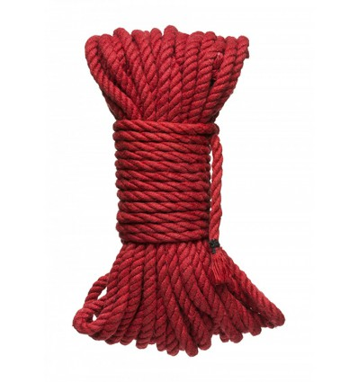Kink Hogtied Bind & Tie 6mm Red Hemp Bondage Rope 50 Feet