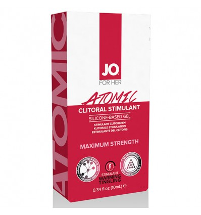 System JO For Her Clitoral Stimulant Warming Atomic 10 ml