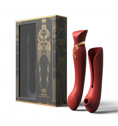 Zalo Legend Queen Set G-Spot Pulse Wave Vibrator Wine Red