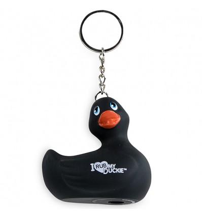 I Rub My Duckie Keychain Black