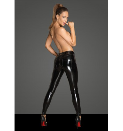 F202 PVC leggins with tulle inserts